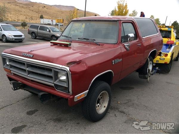 Row52 | 1990 Dodge Ram Charger at PICK-n-PULL Carson City ...