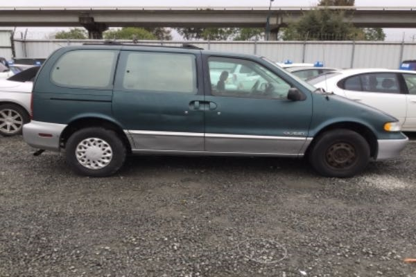 row52 1997 nissan quest at pick n pull oakland 4n2dn1118vd807508 row52 1997 nissan quest at pick n