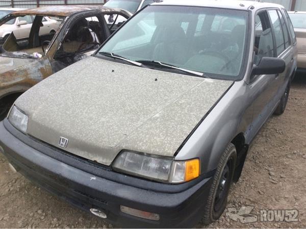 Row52 1990 Honda Civic Wagon At Pick N Pull Salt Lake City